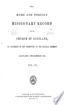 The Home and Foreign Missionary Record for the Church of Scotland