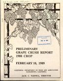 Preliminary Grape Crush Report     Crop