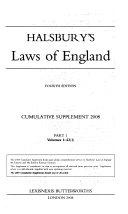 Halsbury s Laws of England   Volumes 1 23 1