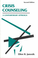 Crisis Counseling Book