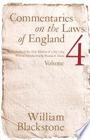 Commentaries on the Laws of England: Of public wrongs