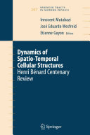 Pdf Dynamics of Spatio-Temporal Cellular Structures Telecharger