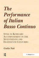 The Performance of Italian Basso Continuo
