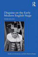 Pdf Disguise on the Early Modern English Stage Telecharger