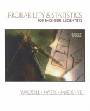 Cover of Probability & Statistics for Engineers & Scientists