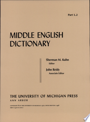 Download Middle English Dictionary Free Books - E-BOOK ONLINE