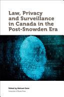 Law, Privacy and Surveillance in Canada in the Post-Snowden Era Pdf/ePub eBook