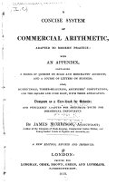 A Concise System of Commercial Arithmetic, Adapted to Modern Practice ...