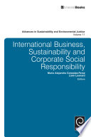 International Business  Sustainability and Corporate Social Responsibility