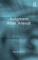Judgment After Arendt Pdf/ePub eBook