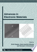 Advances In Electronic Materials Book PDF