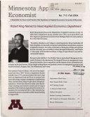 Minnesota Applied Economist Book