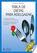 Tabla de dietas para adelgazar