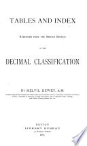 Tables And Index Of The Decimal Classification Book PDF