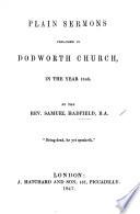 Plain Sermons Preached 1846