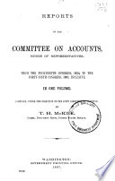 McKee's Compilation , Indexes; Compilation of House Reports from 14th to 49th Congress Inclusive, by Committees