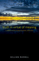 Truth in Virtue of Meaning