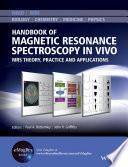 Handbook of Magnetic Resonance Spectroscopy In Vivo Book