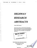 Highway Research Abstracts