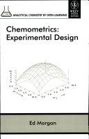 CHEMOMETRICS: EXPERIMENTAL DESIGN (SET PRICE OF 34 BOOKS)
