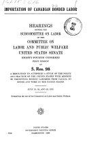 Importation of Canadian Bonded Labor