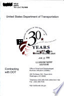 Contracting with the United States Department of Transportation  DOT