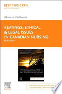 Ethical & Legal Issues in Canadian Nursing Elsevier Ebook on Vitalsource Access Code