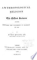Anthropological Religion Book