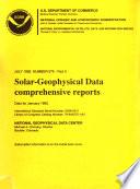 Solar geophysical Data Book