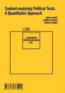 Content-analyzing Political Texts. A Quantitative Approach