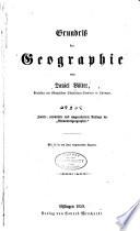 Grundriss der geographie von Daniel Völter ...