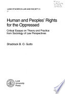 Human and Peoples' Rights for the Oppressed  : Critical Essays on Theory and Practice from Sociology of Law Perspectives