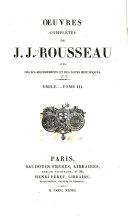 Oeuvres complètes de J.J. Rousseau: Émile ou de l'éducation