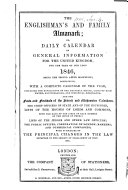 The Englishman s Almanac  Or  Daily Calendar of General Information for the United Kingdom for the Year of Our Lord