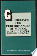 Guidelines for Performances of School Music Groups