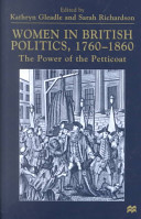 Women in British Politics, 1760-1860