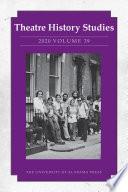 Theatre History Studies 2020 Vol 39