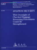 Pdf Aviation Security: TSA Oversight of Checked Baggage Screening Procedures Could Be Strengthened Telecharger