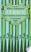 J  S  Bach  Volume Two