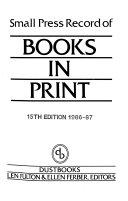 Small Press Record Of Books In Print