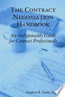 The Contract Negotiation Handbook Book