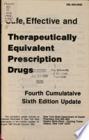 Safe, Effective and Therapeutically Equivalent Prescription Drugs