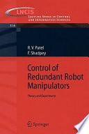 Control Of Redundant Robot Manipulators Book PDF