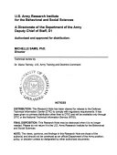 A Cost Benefit Analysis Applied To Example Proposals For Army Training And Education Research