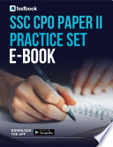 Ssc Cpo Practice Set Ebook For Paper Ii Download As Pdf Here