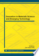 Innovation In Materials Science And Emerging Technology Book PDF