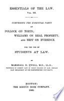 Essentials Of The Law  Book PDF