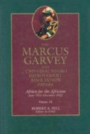 The Marcus Garvey and Universal Negro Improvement Association Papers, Vol. IX ebook