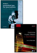 Mcnae's Essential Law for Journalists, 21st Ed. + Essential Public Affairs for Journalists, 3rd Ed.