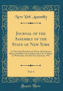 Journal Of The Assembly Of The State Of New York Vol 4